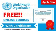 Free Certificates, World Health Organization, Online Courses, No Response, Join, Language, How To Apply, Languages