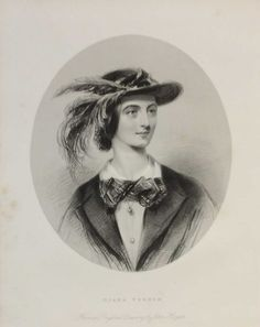 Diana Vernon, antique print, Victorian, an engraving from circa 1880 after the original painting by John Hayter. She is a character from the novel Rob Roy by Sir Walter Scott.