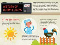 History of Alarm Clocks. Visual Knowledge.  I deeply appreciate the snooze button.