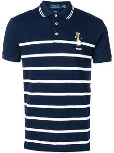 Ralph Lauren Polo Bear Striped Polo Shirt In Blue Ralph Lauren Store, Polo Ralph Lauren, Polo Shirt Outfits, Polo Shirts, Polo Fashion, Polo Jeans, Striped Polo Shirt, Menswear, Mens Tops