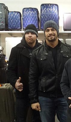 Jonathan Good and Joe Anoa'i as Dean Ambrose and Roman Reigns