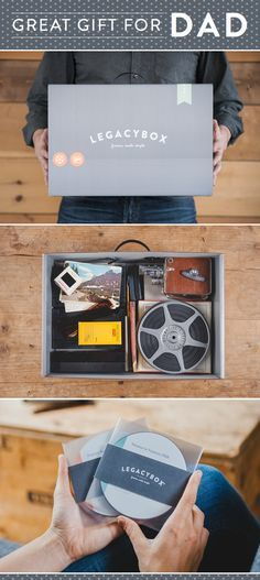 Give dad the gift of memories. He'll love to fill Legacybox with home movies, photos, and film from the past.