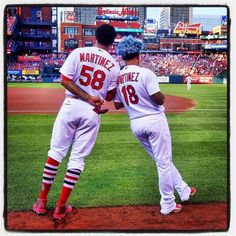 Jose and Carlos Martinez St Louis Baseball, St Louis Cardinals Baseball, Baseball Boys, Stl Cardinals, Baseball Cards, Softball, Cardinals Players, Carlos Martinez, Major League Baseball Teams