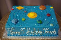 (567) Solar System Sheet Cake Birthday Sheet Cakes, Themed Birthday Cakes, First Birthday Cakes, 3rd Birthday Parties, Themed Cakes, Pirate Birthday, Birthday Ideas, Solar System Cake, Planet Cake