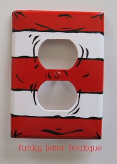 Cat in the Hat switch plate cover