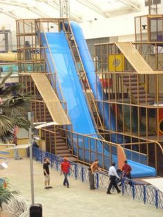 Mall of Arabia.  We designed, manufactured and installed the indoor family entertainment center. #Iplayco #FEC #playground #weBUILDFUN #shopping #center #worldwide #dropslide