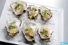 Stefan Richter's Smoked Oysters with Potato Vinaigrette & Flash Frozen Salt