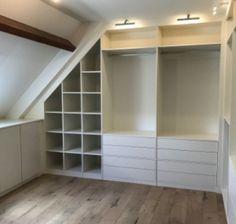 Small Bedroom Wardrobe, Attic Bedroom Small, Attic Wardrobe, Bedroom Closet Design, Master Bedroom Closet, Attic Rooms, Closet Designs, Closet Bedroom, Bathroom Interior Design