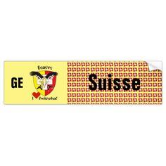 Schweiz Svizzera Suisse Genf Autoaufkleber