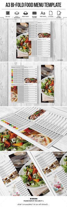 Modern Flat Food Menu Food menu, Food menu template and Menu - a la carte menu template