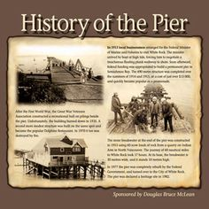 History of White Rock's Pier - Plaque Combat Armor, Our Country, Surrey, British Columbia, Rock, History, Movie Posters, Stone, Historia
