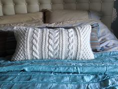 Knitted cushion--perfect for Michelle!