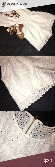 White Eyelet Gianni Bini Romper Adorable Size 11 White Eyelet Gianni Bini Romper, Purchased from Dillard's (Retail: Over $100). Perfect condition, worn once. Reasonable offers accepted. Reduced Price on Ⓜ️. Gianni Bini Dresses Mini