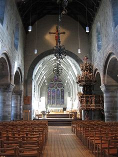 Stavanger Dom Church ~ Norway's Oldest Cathedral ~ Built Around 1150 Oslo, Beautiful World, Beautiful Places, Stavanger Norway, Cathedral Architecture, Church Interior, Visit Norway, Norway Travel, Old Churches