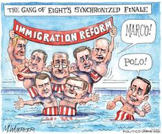 """Synchronized finale"" -- Gang of Eight and immigration 