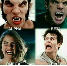 Alpha Beta Omega and Stiles Stiles Teen Wolf, Teen Wolf Scott, Teen Wolf Malia, Teen Wolf Mtv, Teen Wolf Boys, Teen Wolf Dylan, Teen Wolf Memes, Teen Wolf Funny, Dylan O'brien