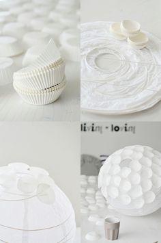 paper cupcake light