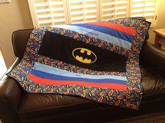 Handiworking: Holy Bat-mania Baby Quilt