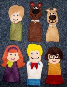6 Scooby y Amigos marionetas del dedo de Pam Forbes