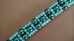 Easy beaded bracelet. DIY. Лёгкий браслетик из бусин - YouTube