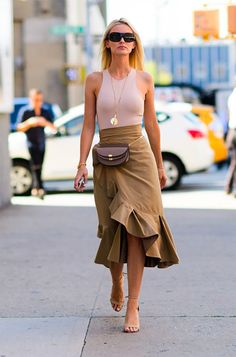 When my interior designer friend turned up at an event yesterday wearing the most gorgeous ruffled-trimmed wrap skirt (similar to the ...