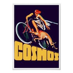 Cosmos Cycles♥ ~ Vintage Bicycle Ad Poster