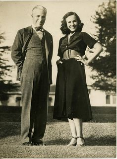 Paulette Goddard & Charlie Chaplin. Chaplin had 11 children and was married four times - to Mildred Harris, Lita Grey, Paulette Goddard and Oona O'Neill.