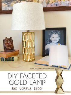 Brilliant DIY Gold Spray Paint Projects To Turn Trash Into Luxury - The ART in LIFE Spray Paint Lamps, Spray Paint Projects, Painting Lamps, Gold Spray Paint, Diy Painting, Organize Life, Gold Diy, Decoration, Decorating Tips