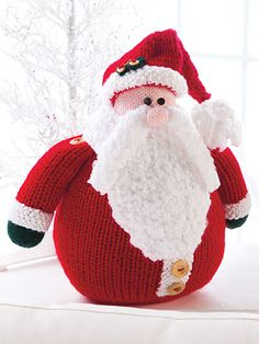 Chubby Santa Knit Pattern from Annie's Craft Store. Order here: https://www.anniescatalog.com/detail.html?prod_id=77860&cat_id=469