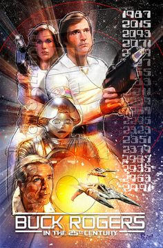 Buck Rogers by jonpinto on DeviantArt Sci Fi Tv Series, Sci Fi Tv Shows, Kampfstern Galactica, Battlestar Galactica, Fantasy Movies, Sci Fi Movies, Buck Rodgers, 1980s Tv, Erin Gray