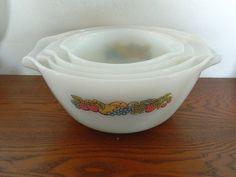Vintage Fire King Set of 4 Mixing Bowls  Nesting by MemeresAttic