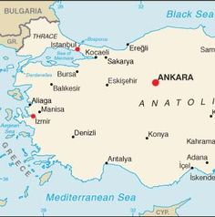 map of turkey and surrounding countries | Country Names and Symbols ...