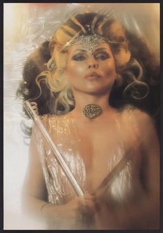 Debbie Harry - Blondie, 1982. King Tut inspired photo by Chris Stein.