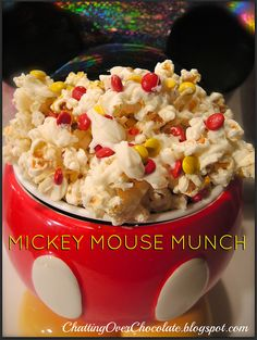 Mickey Mouse Munch! Yum!  A great disney snack =)