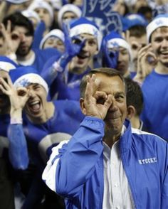 Speaker of the House, John Boehner, throwing up the tres goggles.  #BBN