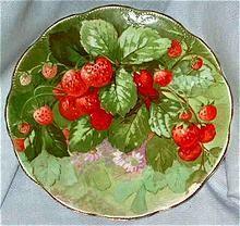 Strawberry scallop plate.