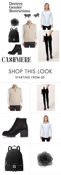 """""""Cashmere and sort of feminine outfit"""" by genderschmender ❤ liked on Polyvore featuring Forte, Citizens of Humanity, River Island, MICHAEL Michael Kors, Marc Jacobs and genderfluid"""