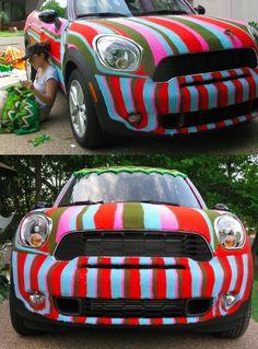 Cool!knitting a road trip - Magda Sayeg / Knitta Please viaszymon#guerillaknitting
