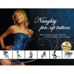 """#SET DI #TATUAGGI """"NAUGHTY PIN-UP"""" - 35 PEZZI Incredibilmente #reali!.. Questi tatuaggi #temporanei sono perfetti da indossare sotto vestiti trasparenti, a corredo della lingerie, in spiaggia od in qualsiasi altra occasione vi venga in mente. #Sexy ed iperrealistici sono quel che ci vuole per aggiungere un tocco di divertimento ai vostri momenti di passione. Il modo migliore per sorprendere ed eccitare il vostro partner. Quel che manca al vostro guardaroba per avere più stile."""
