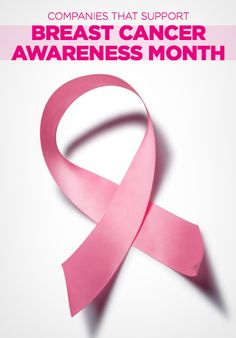 Breast Cancer Awareness Month: Companies That Support the Cause!