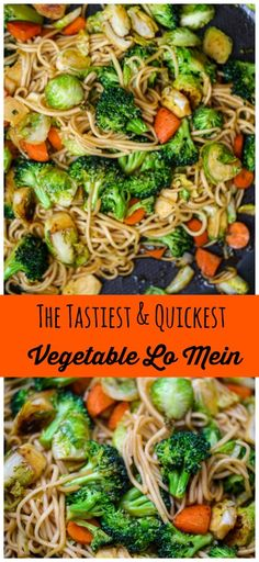Quick & Easy Vegetable Lo Mein - This Quick & Easy Vegetable Lo Mein is vegan, healthy and loaded with veggies and it's super delish! Lo mein is a very popular Asian take-out food, but you can make t Vegan Lo Mein, Vegetable Lo Mein, Vegetable Dish, Recipes With Soy Sauce, 15 Minute Dinners, Vegetarian Recipes, Healthy Recipes, Cheap Recipes, Veggie Recipes