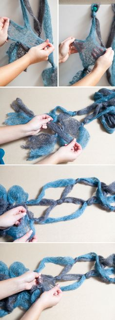 DIY   easy knotted scarf