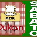 Menu del sabato per la dieta Dukan dei sette giorni