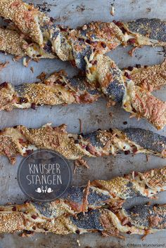 Crunchy Puff Pastry Bars / Knusperstangen