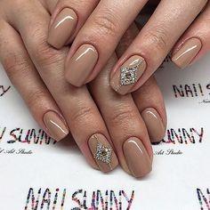 Оригинальный коричневый маникюр - Дизайн ногтей (33 фото)