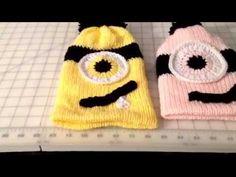 Minion Hat video 2 Addi King Size knitting Machine - http://www.knittingstory.eu/minion-hat-video-2-addi-king-size-knitting-machine/