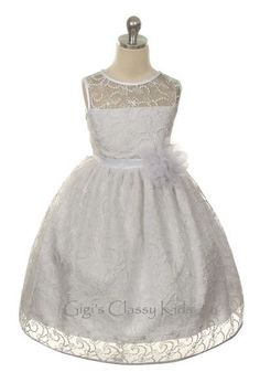 New White Flower Girls Lace Dress Christmas 2-14 Easter First Communion KD307 #HolidayPageantWedding