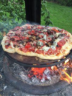 Gourmet Backyard Fire Pit Pizza