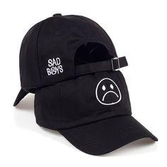 aa4baee015f Sad Boys Baseball Cap s Adjustable Hat Crying Face Hip Hop Headwear Black  Unisex  TUNICAChina
