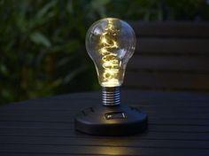 Solcellslampa Bulb Light Bulb, New Homes, Lighting, Home Decor, Decoration Home, Light Fixtures, Room Decor, Lightbulbs, Lights